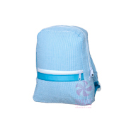 $24.00 Aqua Seersucker Small Backpack