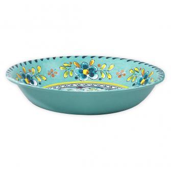$17.00 Melamine Madrid Turquoise Cereal Bowl