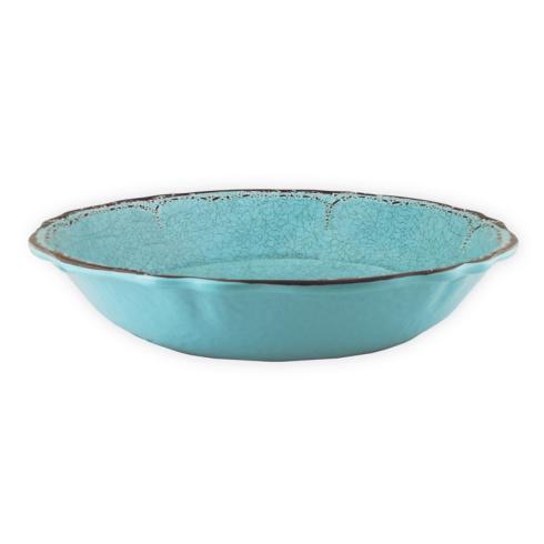 $25.00 Melamine Antiqua Turquoise Pasta Bowl
