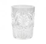 Le Cadeaux   Clear Fleur Water Glass $10.00