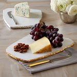 $94.00 White Marble Cheese Plate