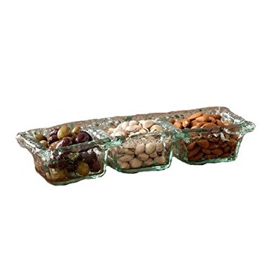 Rustic Three-Compartment Snack Dish collection with 1 products