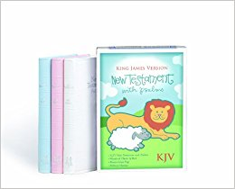 $15.00 All Bibles - KJV New Testament and Psalms White Imitation Leather