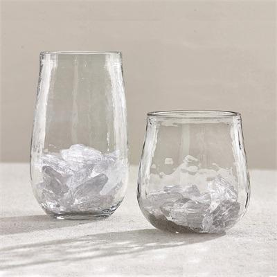 $13.00 Textured Short Beverage Glass