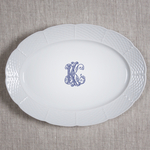 Sasha Nicholas   Weave Oval Platter With Monogram $172.00