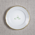 Sasha Nicholas   Weave Gold Rim Salad With Monogram $66.00