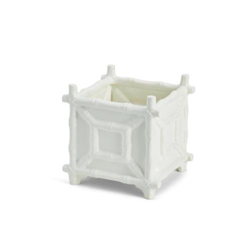 Two\'s Company   White Bamboo Cachepot $47.00
