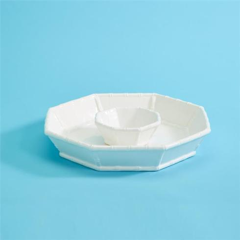 Two\'s Company   White Bamboo Chip-n-Dip  $63.00