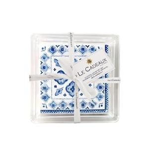 Moroccan Blue Cocktail Napkin Gift Set  collection with 1 products