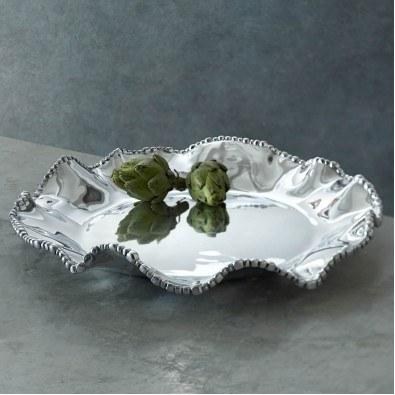 Cole & Co's Exclusives   Organic Pearl Olanes Round Platter  $150.00