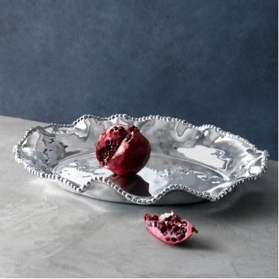 Cole & Co's Exclusives   Organic Pearl Oval Deep Platter $185.00