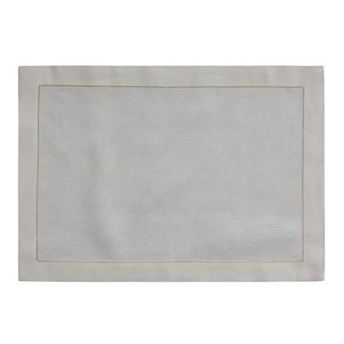 "$21.00 White Classico Oblong Placemat, 13"" x 19"""