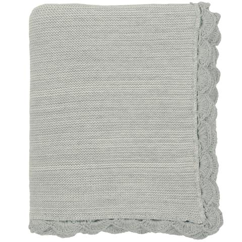 $70.00 Gray/Natural Baby Blanket