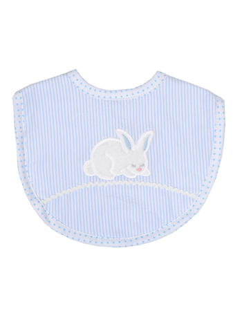 3 Marthas   Blue Bunny Tales Medium Bib $24.00