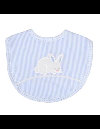 $24.00 Blue Bunny Tales Medium Bib