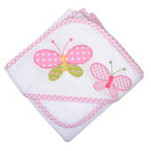 $42.00 Butterfly Kisses Hooded Towel & Washcloth Set