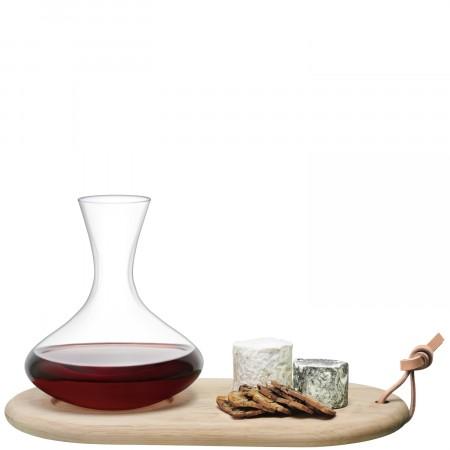 $81.00 Wine Carafe & Oak Cheese Board