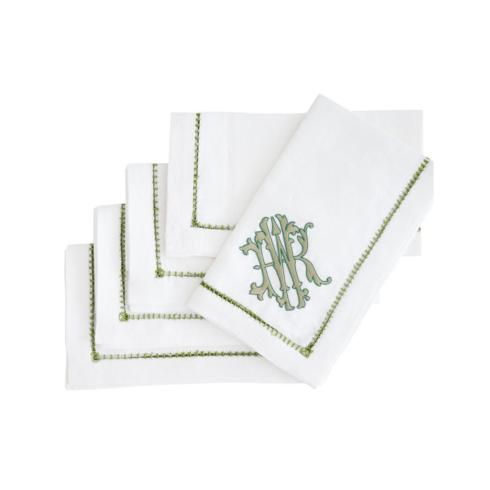 Ladder Stitch Dinner Napkin With Monogram collection with 1 products