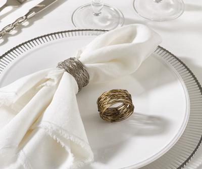 Saro Designs   Gold Metal Design Napkin Ring $7.00