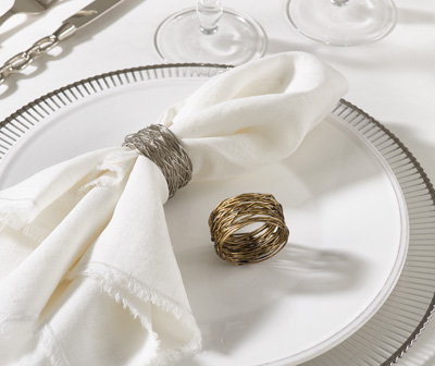 Gold Metal Design Napkin Ring collection with 1 products