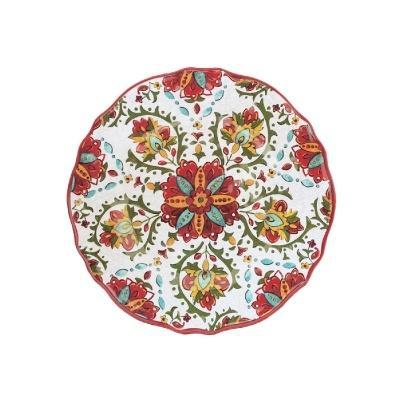$16.00 Allegra Red Salad Plate