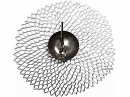 $12.00 Silver Pressed Dahlia Round Placemat
