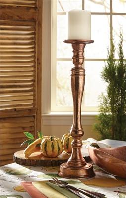 Split P   Copper Finish Candleholder $85.00