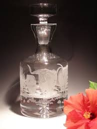Evergreen Crystal   36 oz. Etched Decanter $198.00