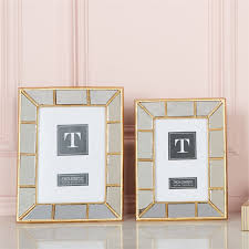 Two\'s Company   Gold Mirror Frame 5x7 $42.00