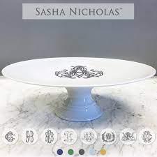 Sasha Nicholas   Cake Plate W/ Monogram $185.00