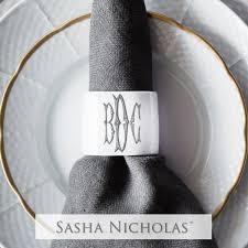 $30.00 Oval Napkin Ring w/ Monogram