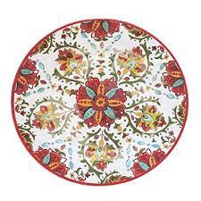 $45.00 Allegra Red Oval Platter