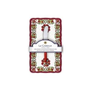 Le Cadeaux   Allegra Red Butter Dish & Spreader $21.00