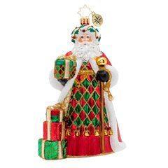 $66.00 Holiday Harlequin Santa