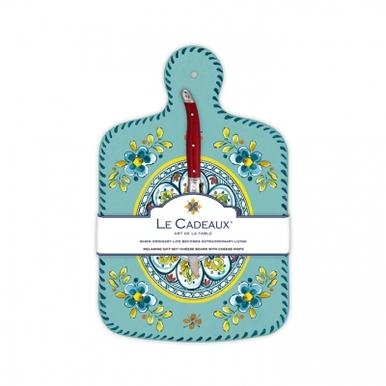 Melamine Madrid Turquoise Cheese Board With Laguiole Cheese Knife collection with 1 products