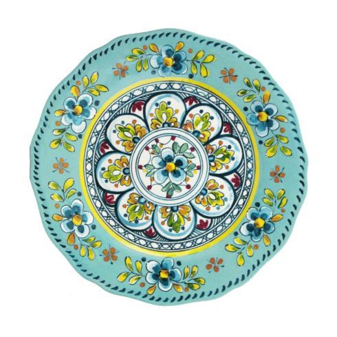 $19.00 Melamine Madrid Turquoise Dinner Plate
