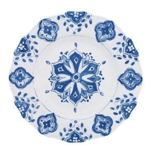 Le Cadeaux   Morrocan Blue Dinner Plate $21.00