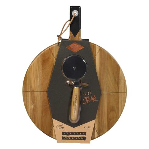 Cole & Co's Exclusives   Wild & Wolf, Inc. Pizza Cutter and Board $33.00