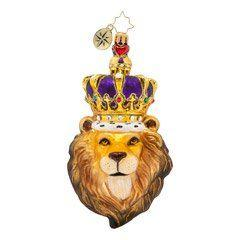 Christopher Radko  Animals Roaring Royalty $63.00