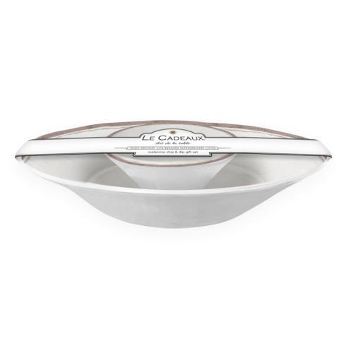 Le Cadeaux   Melamine Rustica Antique White Chip and Dip $49.00