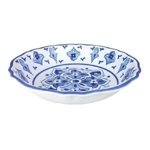 Le Cadeaux   Morrocan Blue Salad Bowl $45.00