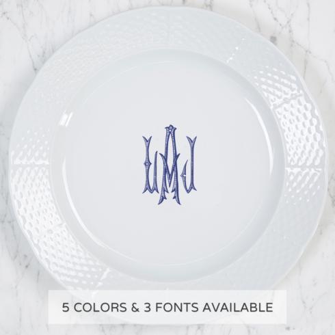 Sasha Nicholas   Weave Charger Plate With Monogram $68.00