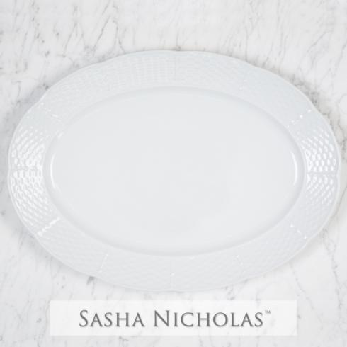 $76.00 Weave Simply White Oval Platter