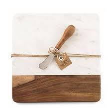 $31.95 Marble And Wood Cheese Set