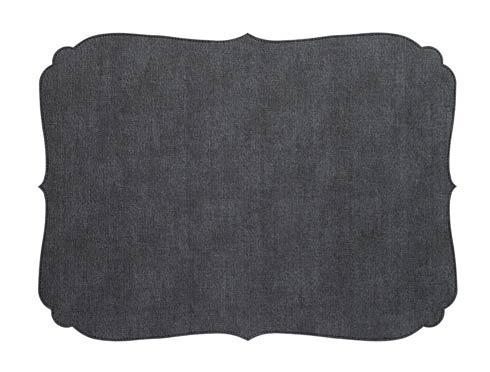 $23.00 Bodrum ~ Curly Oblong Placemat - Charcoal