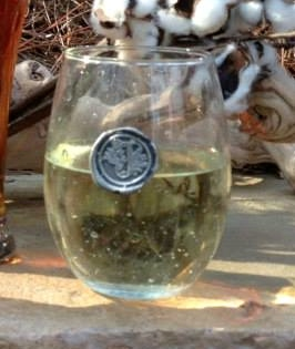 Southern Jubilee   Stemless wine glass with Initial $17.99