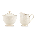 $62.00 French Perle - Cream and sugar