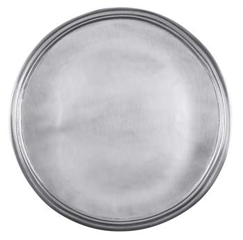 Matte pewter finish round tray collection with 1 products