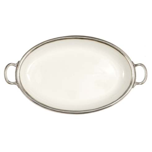 $282.00 Tuscan Oval Tray with Handles