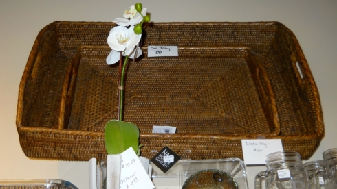 $156.00 Large Wicker Tray